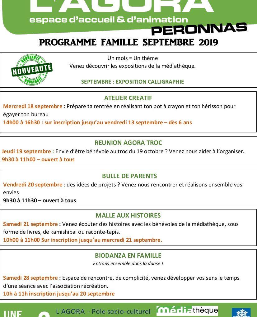 programme famille septembre